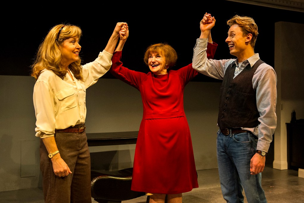 Photo from the play, The Waverly Gallery, (Left to Right) Elizabeth Aspenlieder, Annette Miller, and David Gow; photo by Daniel Rader.