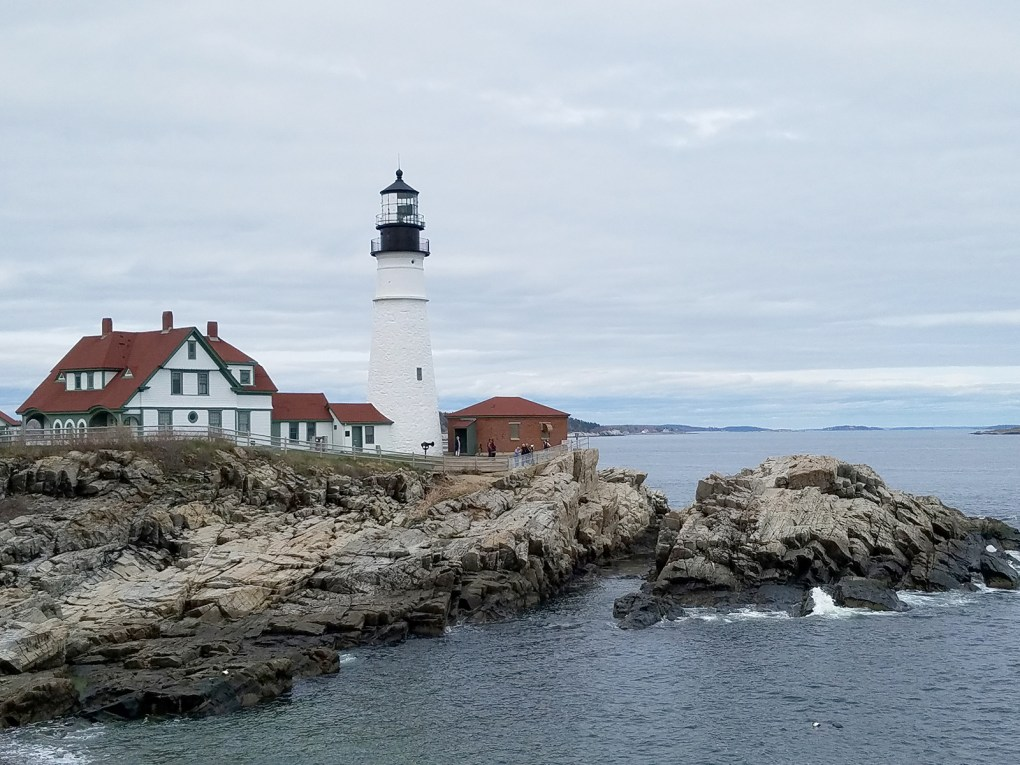 Photograph: Portland Head Light, commissioned by George Washington in 1791, is Maine's oldest. Today it is surrounded by a 90-acre park that includes predictably stunning ocean views, hiking and walking paths, and a museum; photo by Robin Catalano.