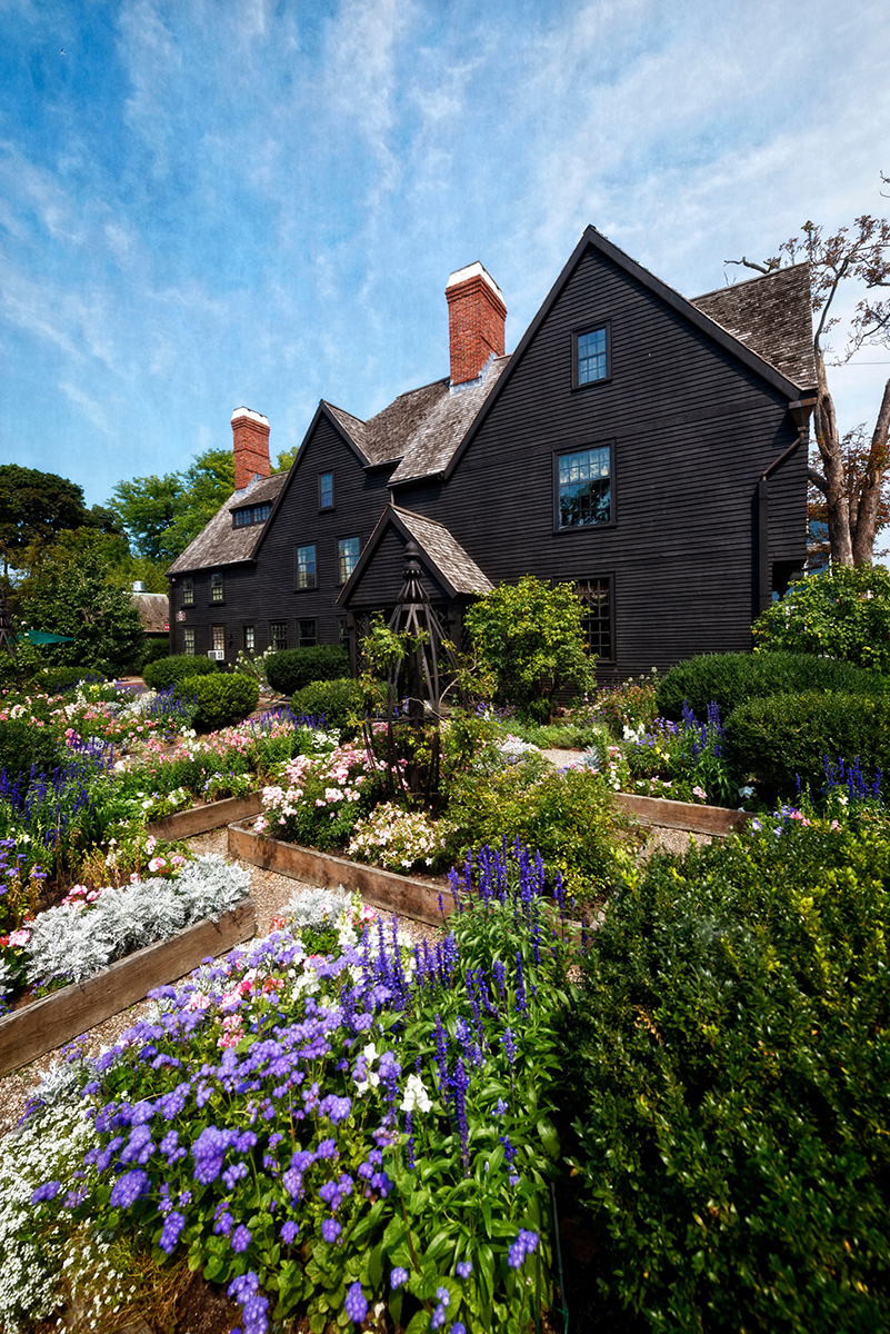 Made famous in Nathaniel Hawthorne's gothic exploration of guilt, greed, and supernatural goings-on, the House of the Seven Gables has played an important role as a settlement house for immigrants since 1908; photo by Frank C. Grace, courtesy of salem.org.