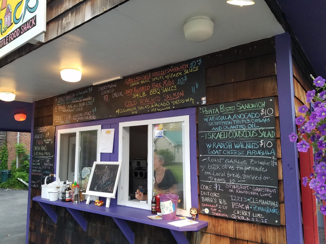 The KShack, which opened on the Fourth of July, 2019 in New Lebanon, serves up seasonal delights, locally sourced when possible; photo by Robin Catalano.