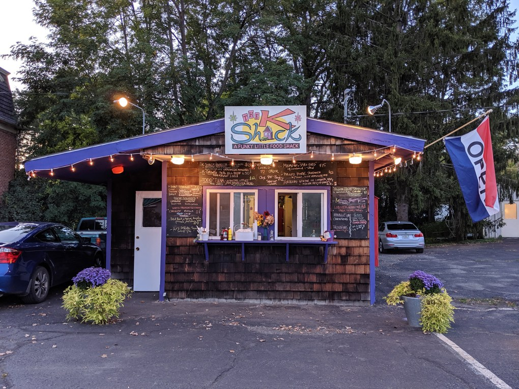 Adorned with color and light, the KShack isn't hard to spot from the road as you drive through town; photo by Robin Catalano/