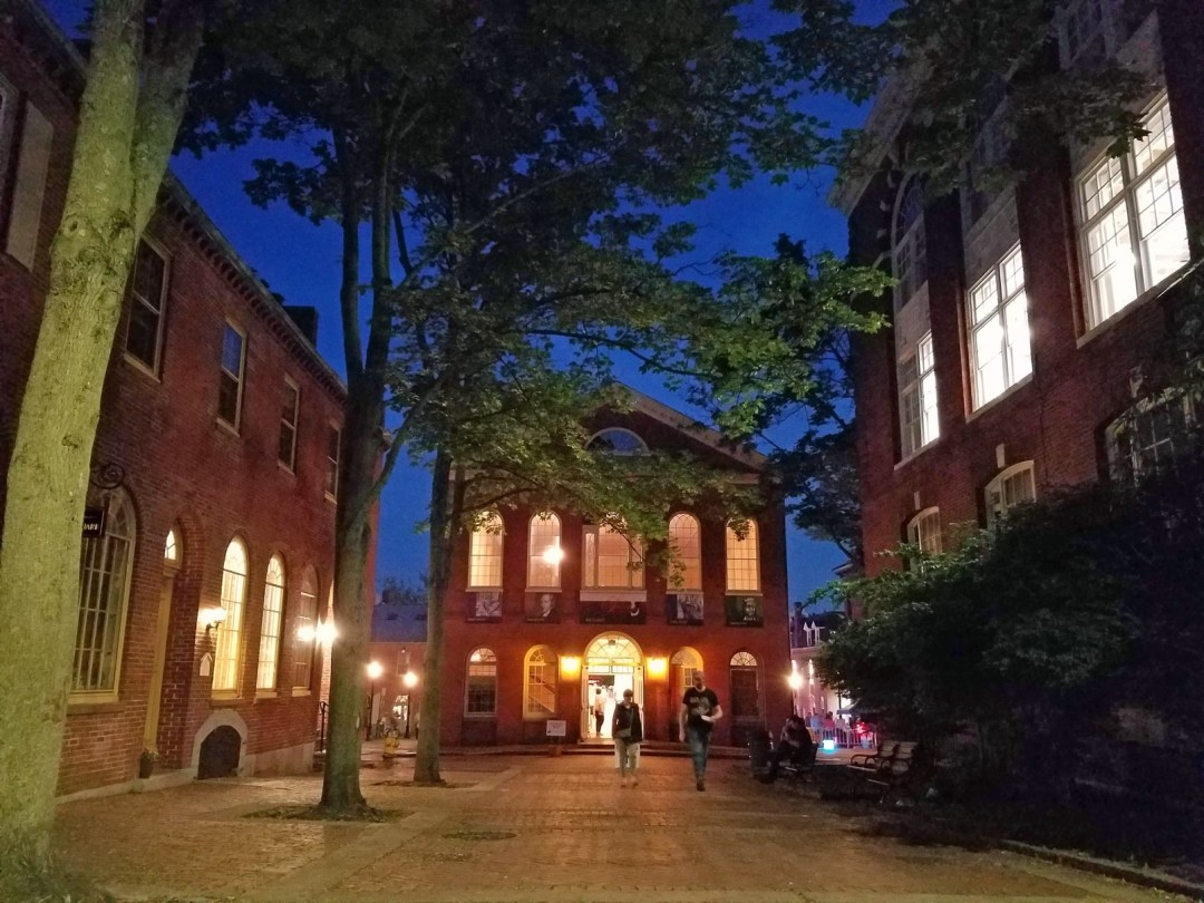 One of Salem's many beautifully preserved historic buildings, Old Town Hall hosts a variety of art and culture exhibits; photo by Robin Catalano.
