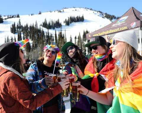 Pre-Parade Patio Party; photo courtesy Sun Peaks Resort.