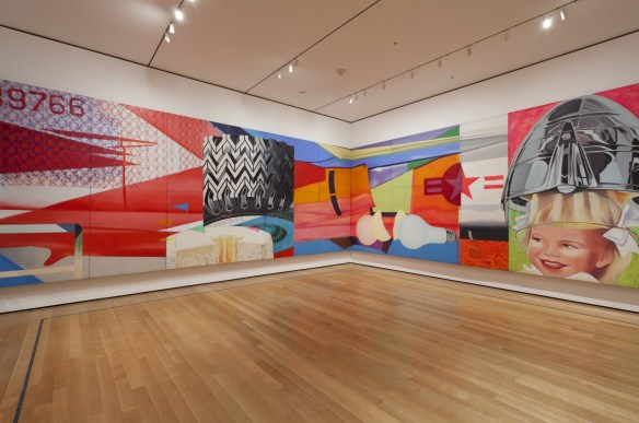 "James Rosenquist's ""F-111"" exhibited at Museum of Modern Art, NYC"