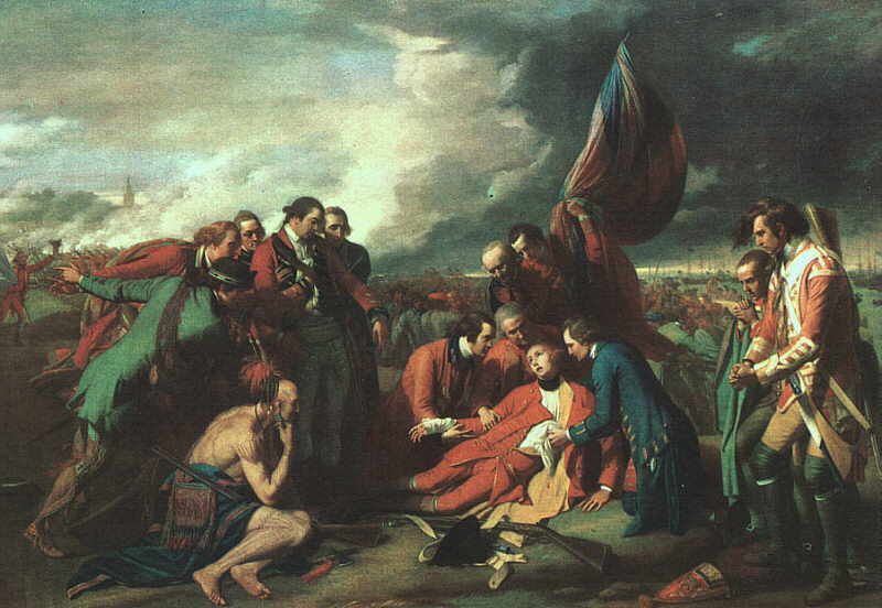 The Death of Wolfe - Benjamin West (1771)