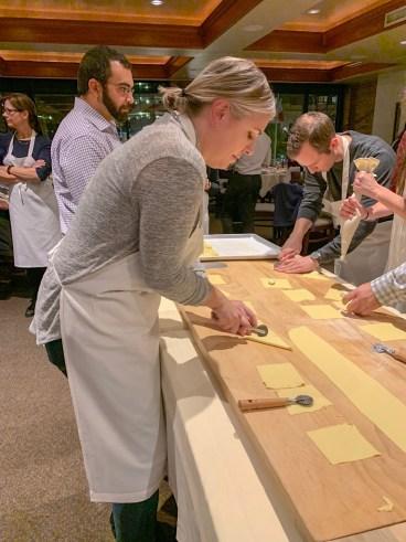 Preparing the ravioli dough for the filling!