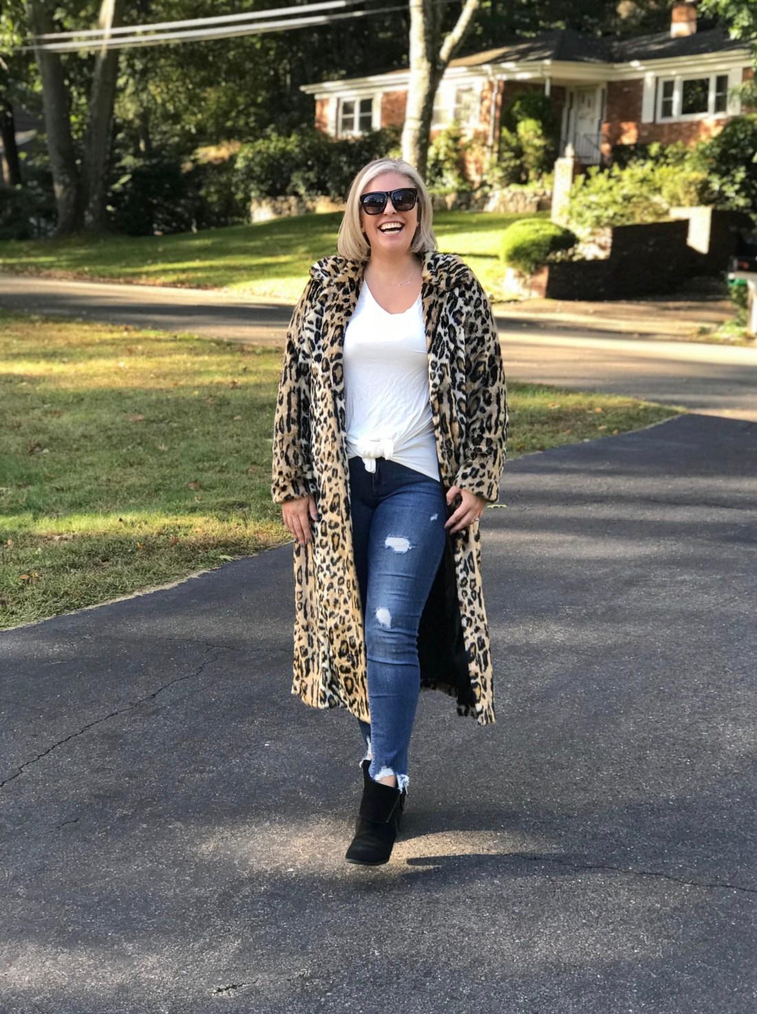 Fabulous Furs Maxi Leopard Coat