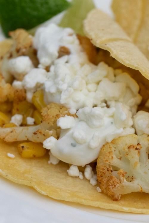 Cauliflower & Corn Tacos