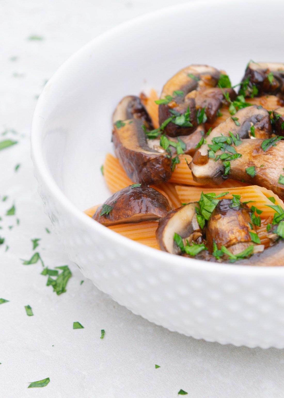 Honey Balsamic Mushrooms