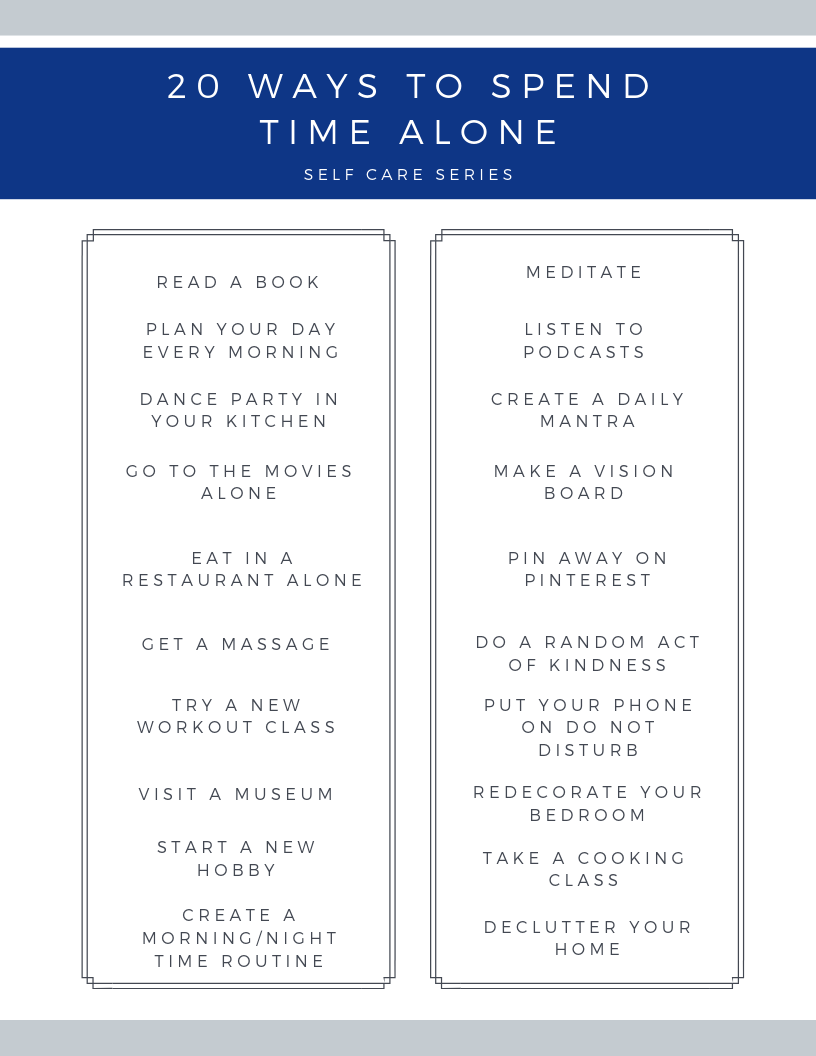 20 Ways to Spend Time Alone