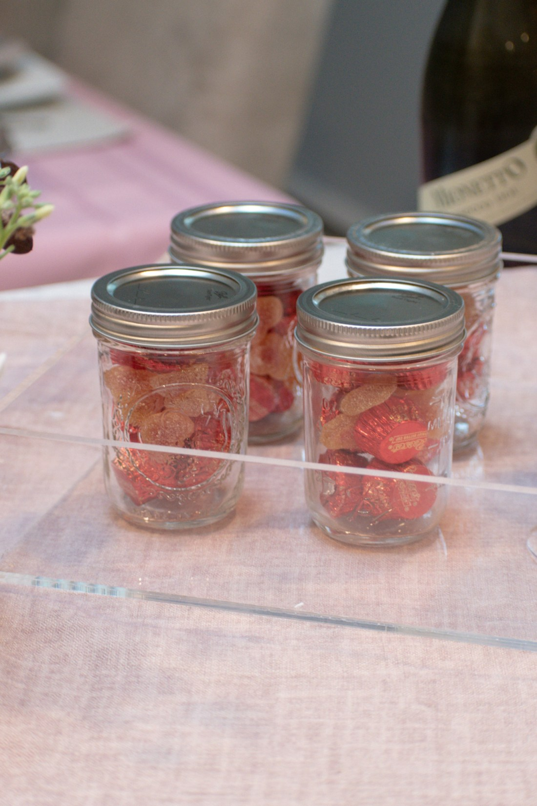 Sweet Party Favor- candy in a mason jar