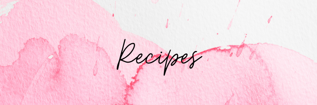 New Recipes I want to try