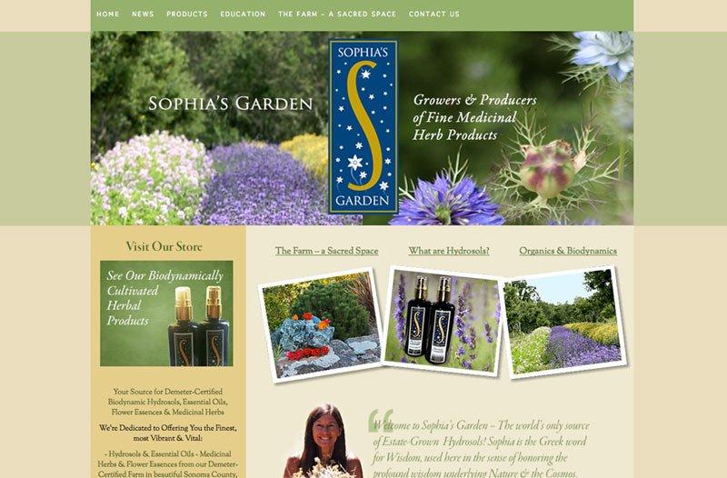 Biodynamic Farmer Website design