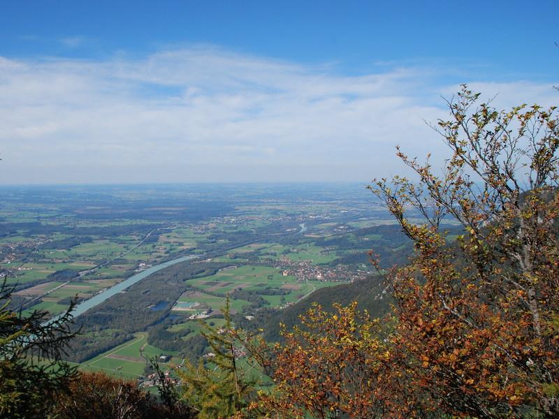 Kranzhorn Blick nach Norden aufs Voralpenland