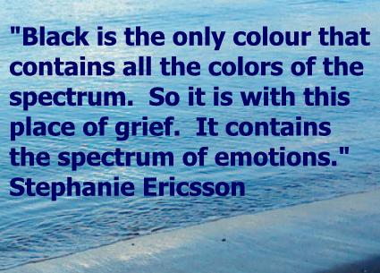 Stephanie Ericsson grief quote sea background