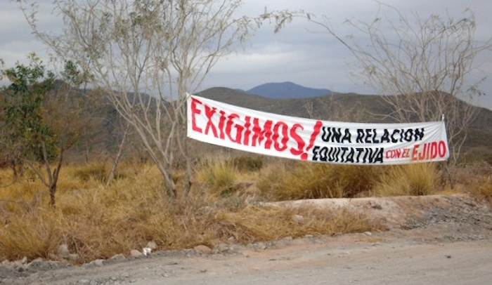 El 11 de marzo de 2011 Excellon realizó actividades de exploración fuera de las 1,100 hectáreas acordadas, lo que representó una violación al contrato. Foto: ProDESC