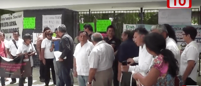 Docentes de la UPN realizan paro de labores (Yucatán)