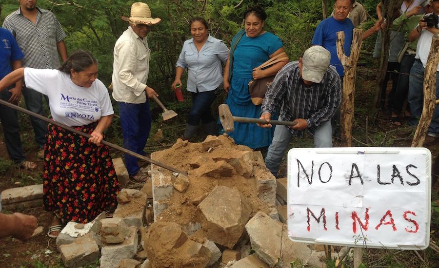 Preparan encuentro de comunidades en rebeldía contra empresas mineras porque concesionaron 30 mil hectáreas (Oaxaca)