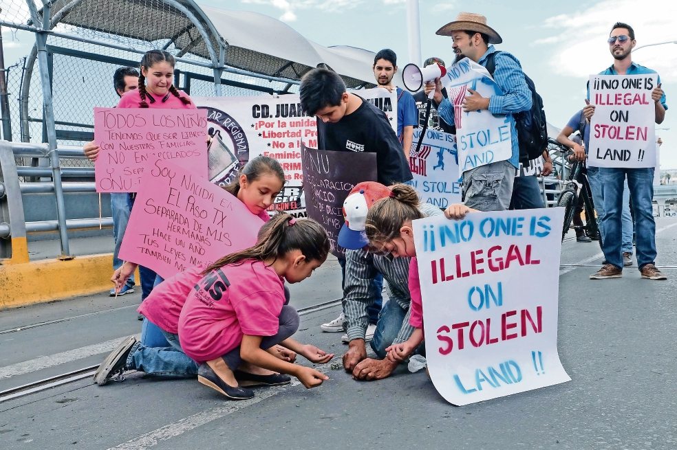 Marchan contra detención de migrantes en cárceles (Chihuahua y Baja California)