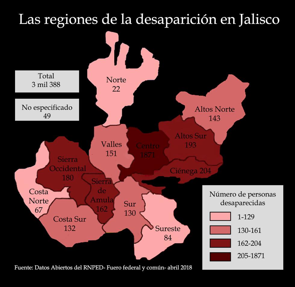 LOS ROSTROS DE LA DESAPARICIÓN EN JALISCO