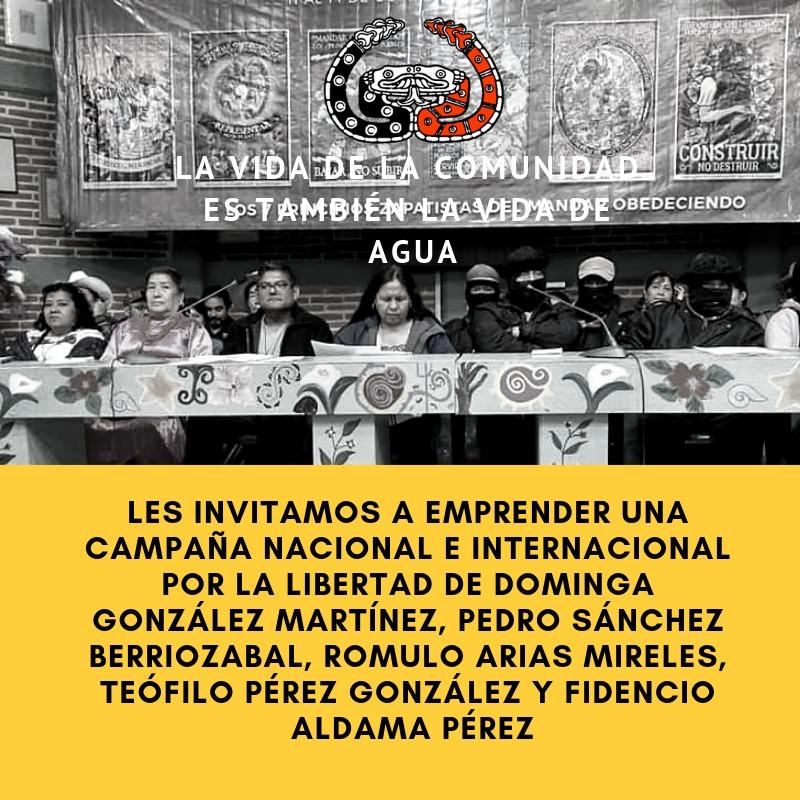 Convocamos a una campaña nacional e internacional por la libertad de los presos de Tlanixco y de la tribu Yaqui