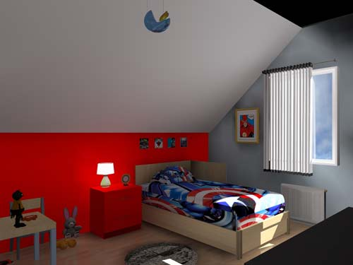 3D Chambre Enfant Les Super Hros