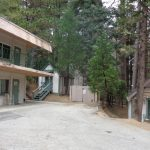 The dormitory and a few cabins