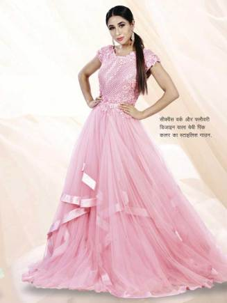 Baby Pink Color Stylish Gowns