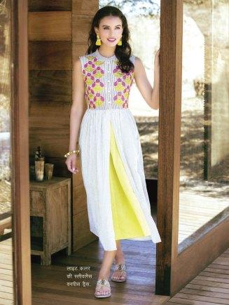light color sleeveless one piece dress