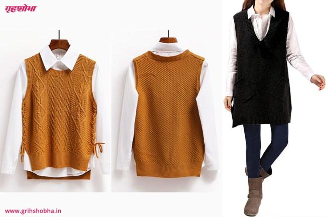 sleevless sweater