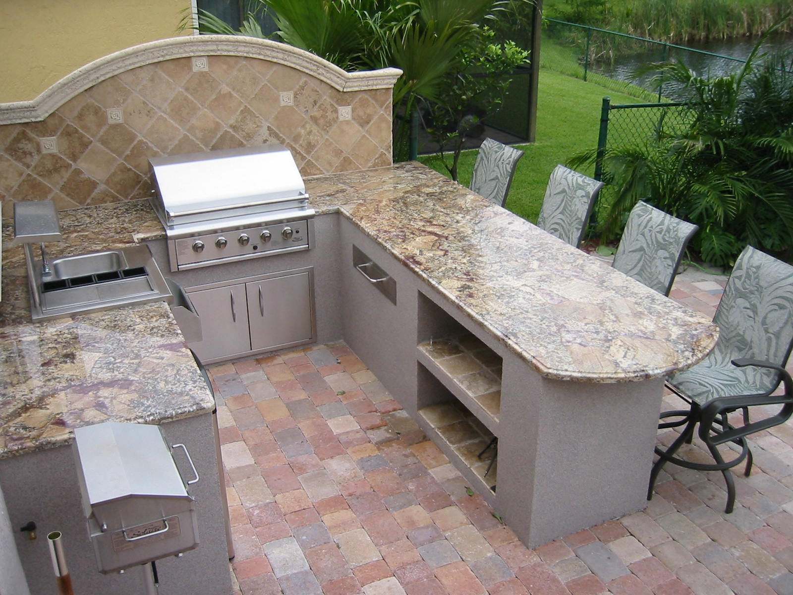 OCI built in bbq grill custom outdoor kitchen — Gas Grills ... on Built In Grill Backyard id=55150