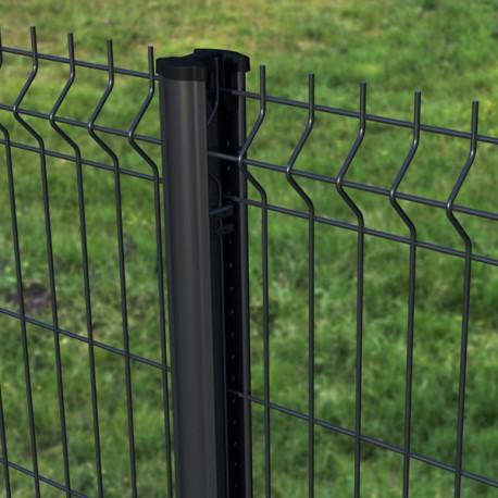 kit cloture 10m panneau rigide poteaux a clips qualite pro