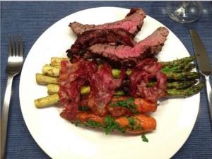 Flank Steak mit Spargel