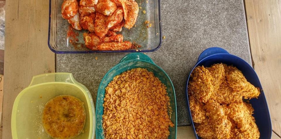 kippenvleugels krokant maken