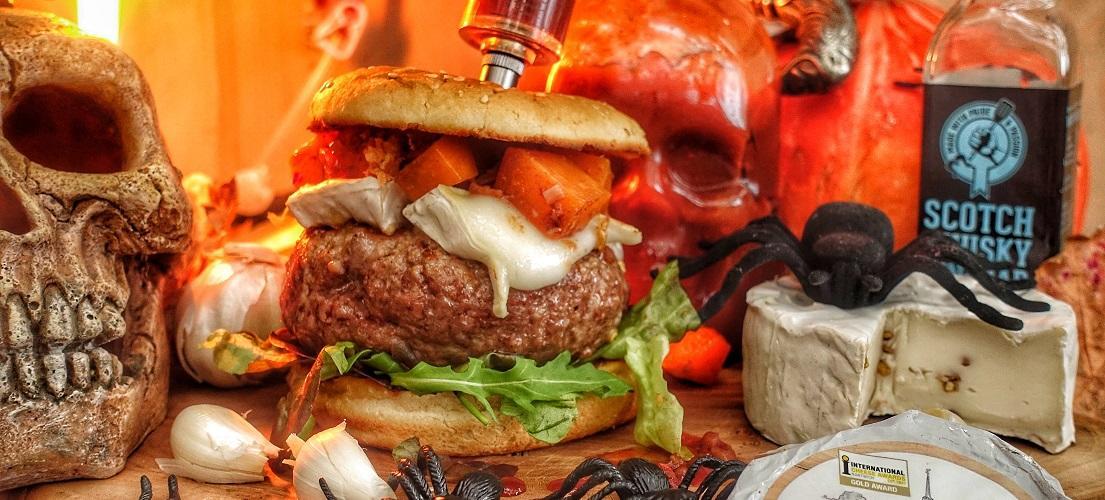 Black Angus Halloween Burger