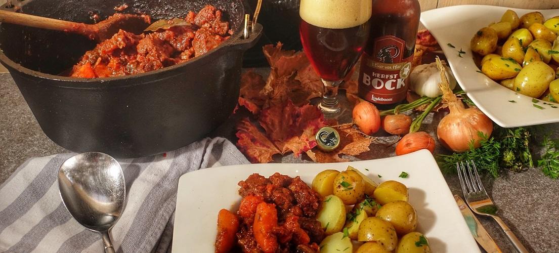 Runderstoofvlees van Sucade met Herfstbock bier