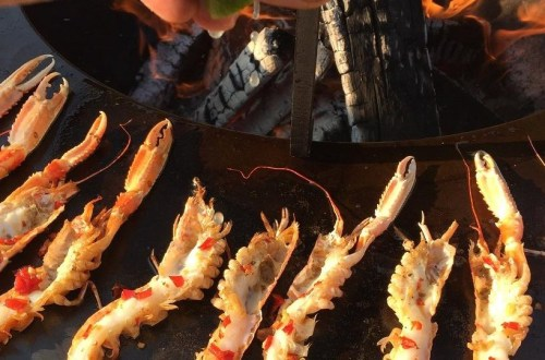 Langoustine in Pittige Rode Peper Olie