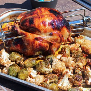 Savory Lemonade Basted Rotisserie Chicken