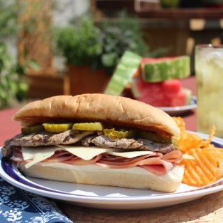 Mojo-Marinated Pork Tenderloin Cuban Sandwiches