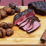 Backyard Steakhouse: Grilled Flat Iron Steak and Mushrooms