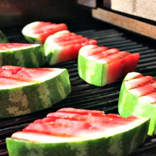 Grilled Watermelon Slices with Lemon Agave Syrup