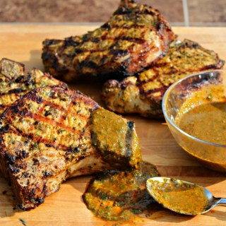 Elevate Your Tailgate: Red Chimichurri Grilled Pork Chops