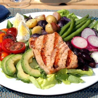 Grilled Salmon Salade Niçoise – Happy Mother's Day!