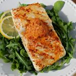 Grilled Halibut with Andouille Butter
