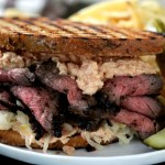 Your Game Day Sandwich… Flank Steak Rubbed with Pastrami Spices