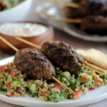 Grilled Lamb Kefta with Quinoa Tabbouleh