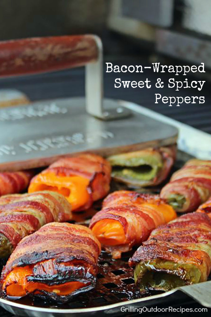 BACON WRAPPED SWEET SPICY PEPPERS v
