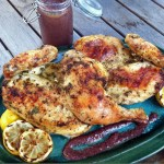 Lemon and Mint Grill Roasted Chicken Halves
