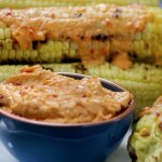 Grilled Corn with Pimiento Cheese Butter