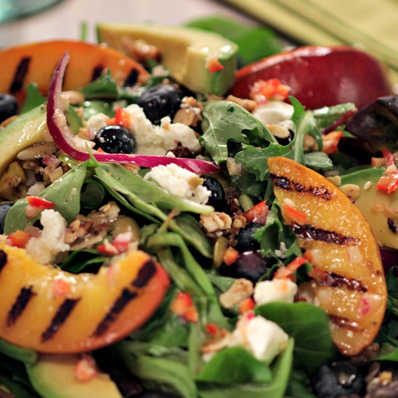 Grilled Nectarine Salad - sq